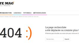 La personnalisation de la page 404 pour le marketing