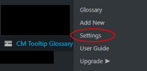 Menu CM Tooltip Glossary