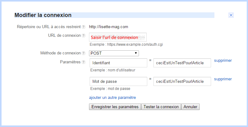 Connexion Robot Google Adsense