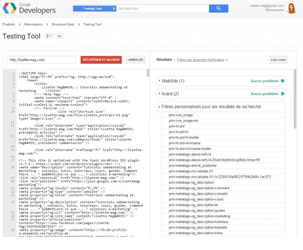 Google Testing Tool