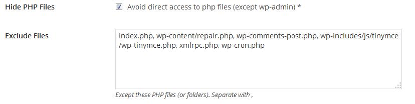HMWP - Cacher les fichiers php - Hide My WP