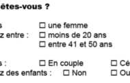 Titre et l'introduction du questionnaire