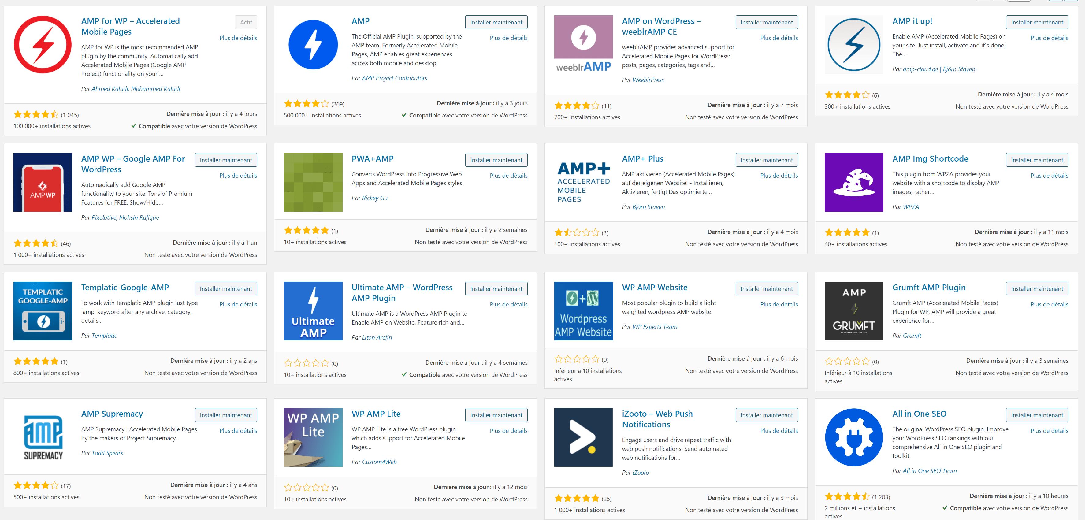 Les extensions Google AMP pour WordPress