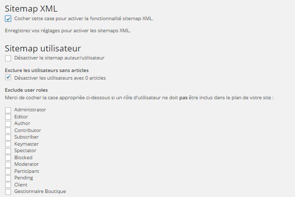 Wordpress SEO by Yoast : sitemap XML