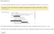 Adsense : insérer le code du bloc d'annonces dans son site