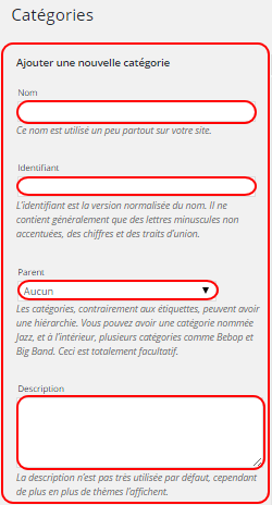 Tutoriel WordPress : ajouter une catégorie