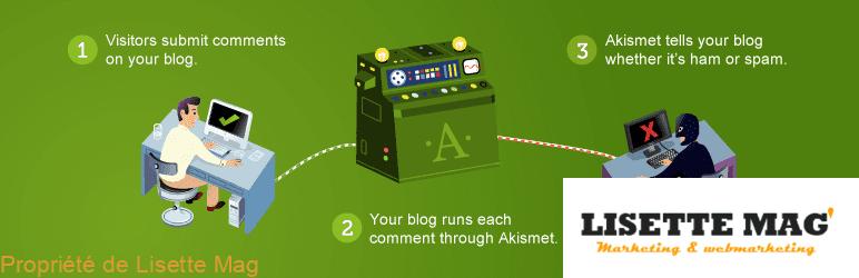 Plugins wordPress : Askimet, extension WordPress - anti-spam