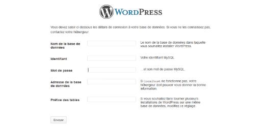 configuration de WordPress