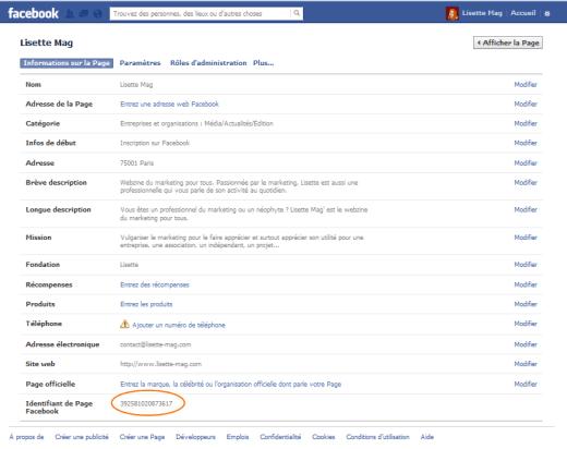 ID Facebook pour son compte, profil et sa page
