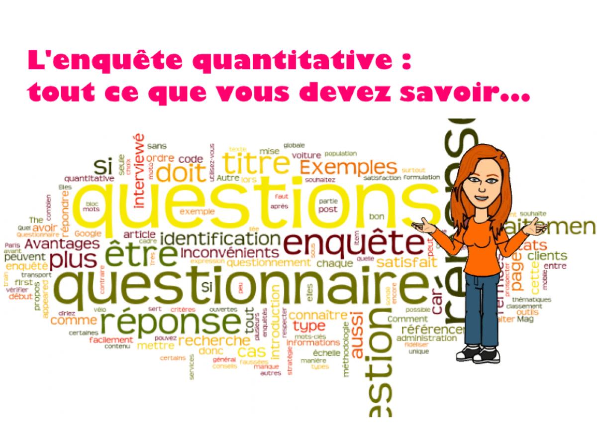 Questionnaire d'enquête quantitative : les types de question