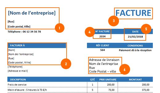 Faire une facture : L'entête de la facture et ses mentions obligatoires