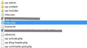 modifier l'adresse web d'un site WordPress - Fichier index.php