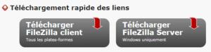 Filezilla client FTP - transférer les données sur le serveur distant