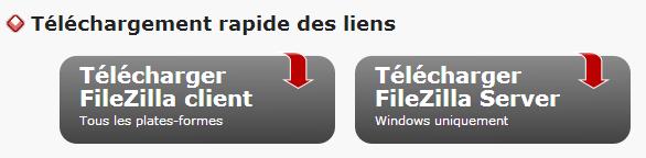 Filezilla - télécharger ftp client