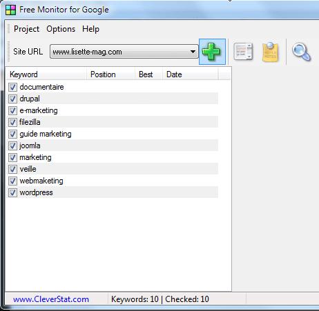 """alt=""""Free Monitor for Google - Liste des mots-clés"""""""