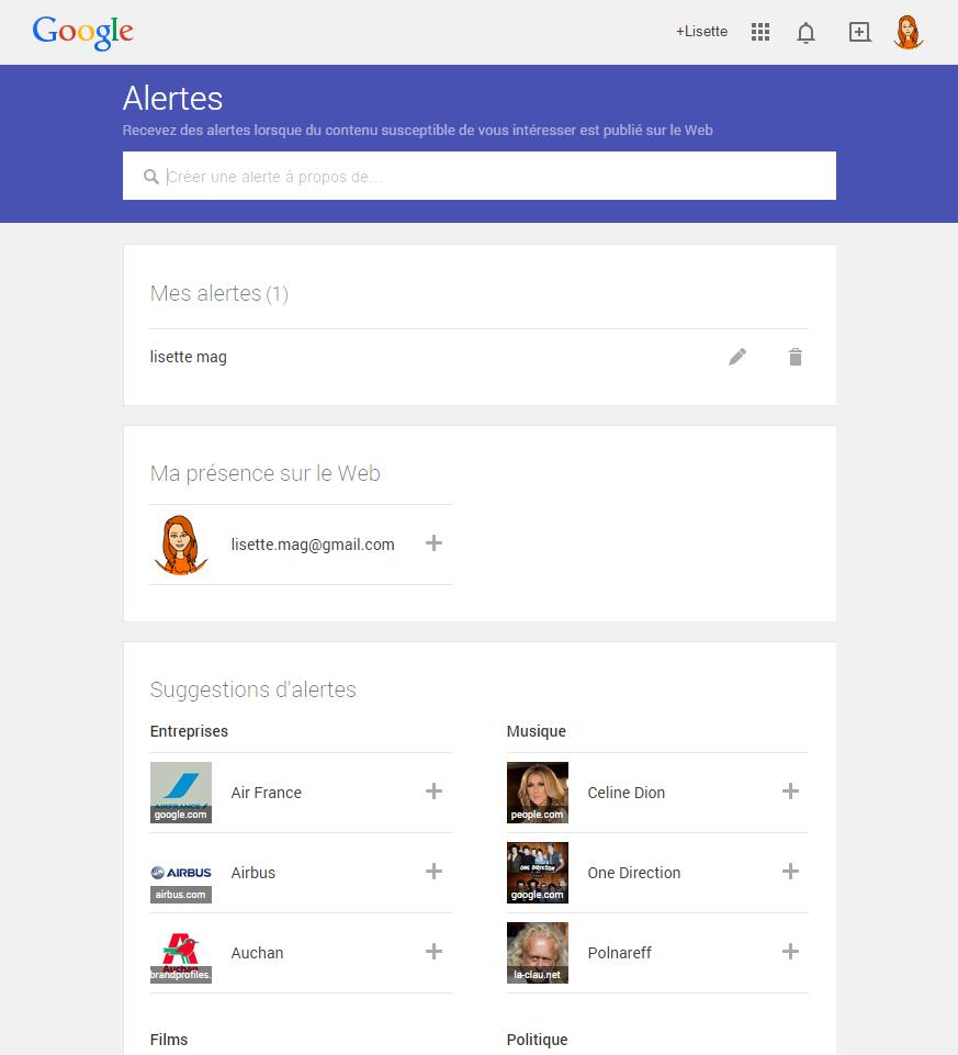 google alerts : outil de veille