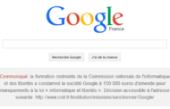 Google condamné en France par la CNIL