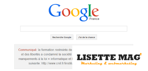 Google – condamnation CNIL