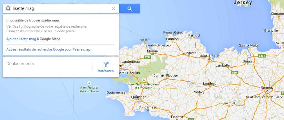 Localisation sur Google Map