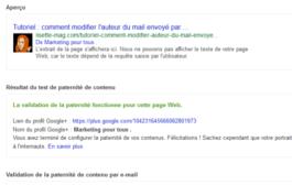 Tutoriel : comment savoir si la balise Author Google fonctionne pour votre site ?