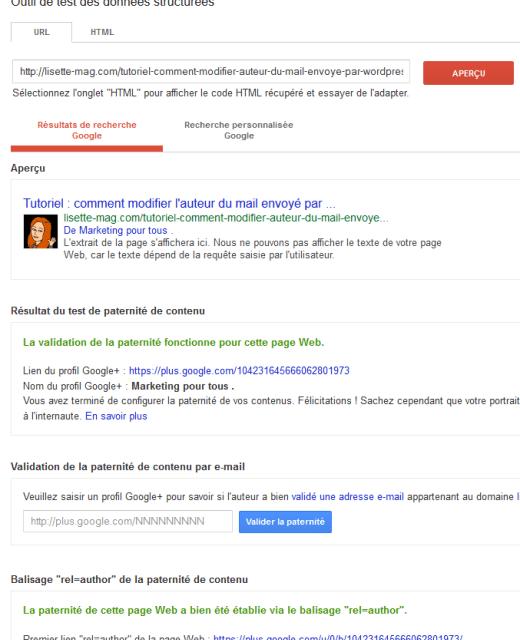 Savoir si la balise Author Google fonctionne pour votre site