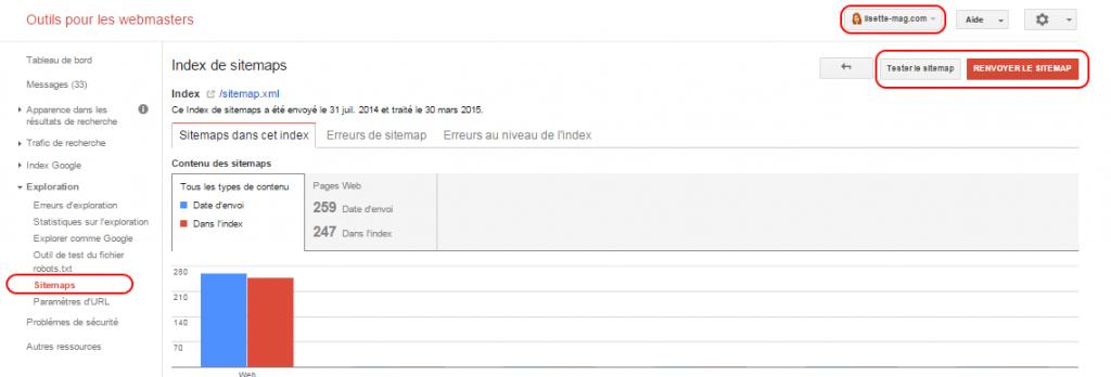 Déclarer son sitemap sur Google Webmaster Tools