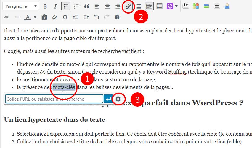 Insérer un lien hypertexte parfait