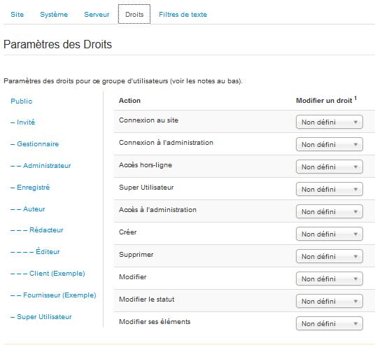 La gestion des droits des utilisateurs sur Joomla!