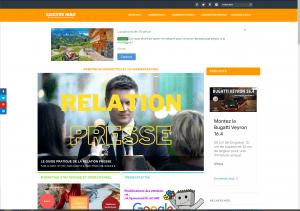 Responsive : affichage du site Lisette Mag sur un écran de taille standard