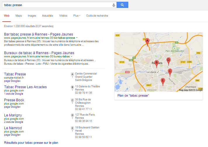 Local SEO Exemple