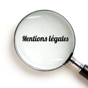 Mentions légales sur un site Web