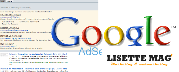 moteur de recherche Adsense