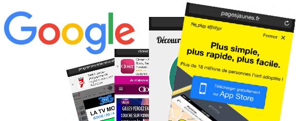 Publicités interstitielles sur site mobile pénalisées par Google - Mobile Amical