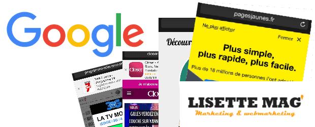Publicités interstitielles sur site mobile pénalisées par Google – Mobile Amical