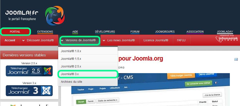 Télécharger Joomla! en version francophone