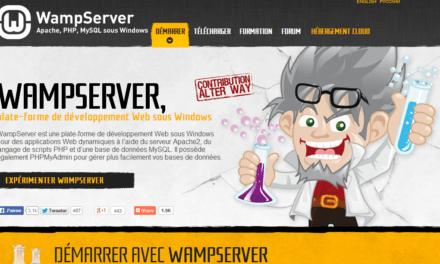 Installer le serveur local WampServer