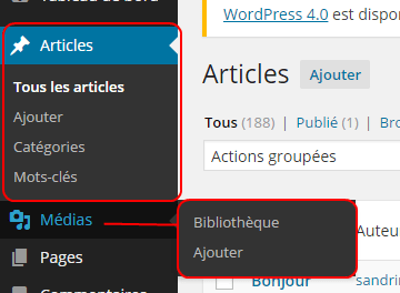 Se repérer dans l'administration WordPress ?