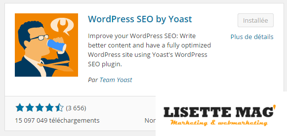 Wordpress : plugin WordPress SEO by Yoast